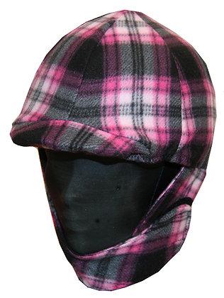 Pink Plaid Fleece Helmet Cover