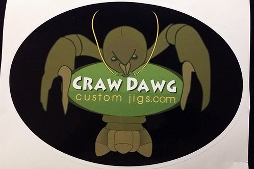 Craw Dawg Custom Jigs Sticker Large