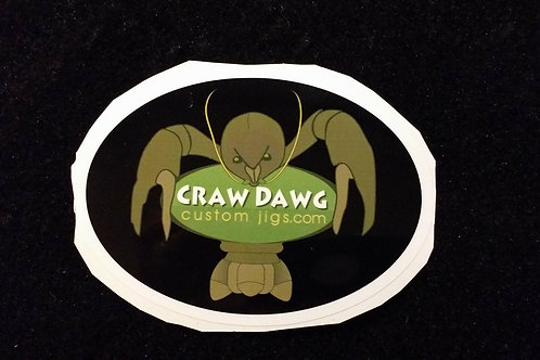 Craw Dawg Custom Jigs Sticker Small