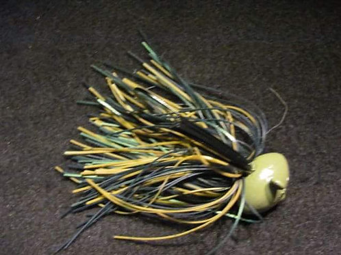 1 oz - 1 1/8 oz FOOTBALL JIG SINGLE WEED GUARD WIRE TIED