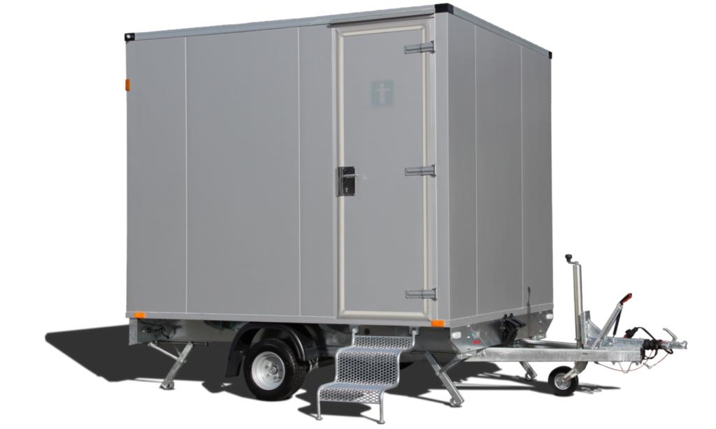mietlift.ch Vezeko WC-Wagen mit Treppe.Anhänger-Center Räterschen