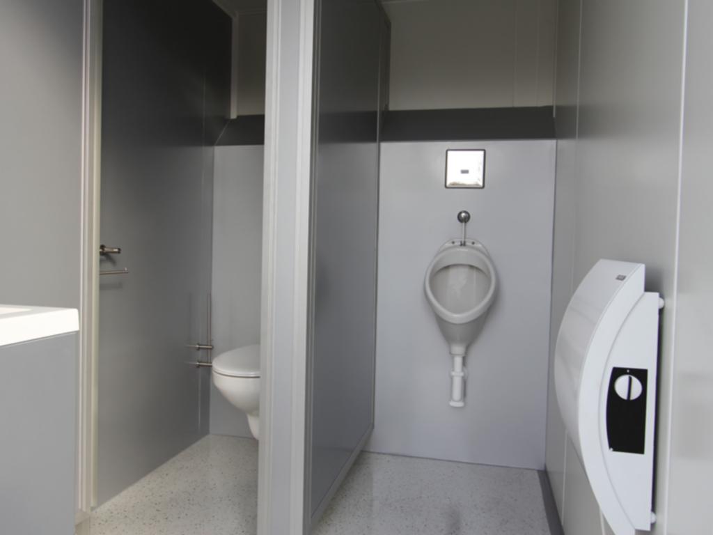 mietlift.ch Vezeko WC-Wagen Herrenkabine mit Pissoir.Anhänger-Center Räterschen