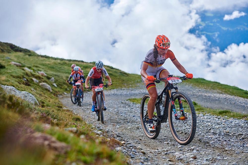 Stefanie DOHRN, Elisabeth BRANDAU during Stage 1 of the 2020 Swiss Epic from Laax to Laax, Graubünden, Switzerland on 18 August 2020. Photo by Marius Holler.