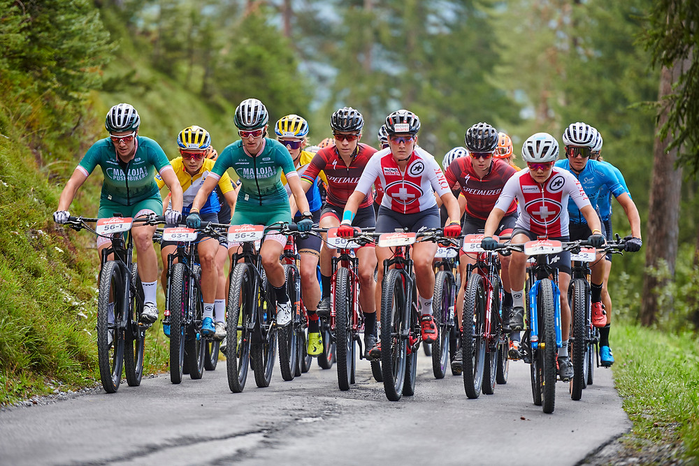Woman elite during Stage 1 of the 2020 Swiss Epic from Laax to Laax, Graubünden, Switzerland on 18 August 2020.