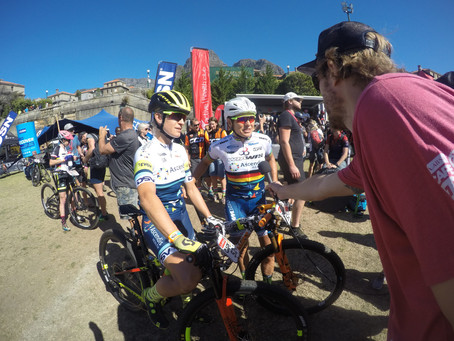 2018 ABSA Cape Epic Ladies Prologue-Langvad andCourtney blazehome.