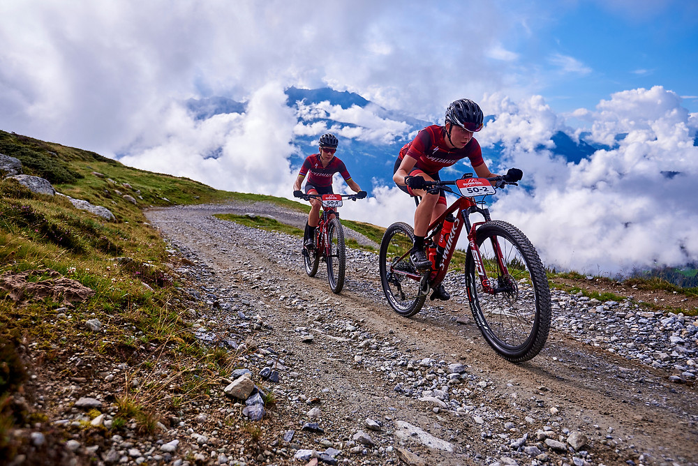 Annika LANGVAD and Haley BATTEN during Stage 1 of the 2020 Swiss Epic from Laax to Laax, Graubünden, Switzerland on 18 August 2020. Photo by Marius Holler.