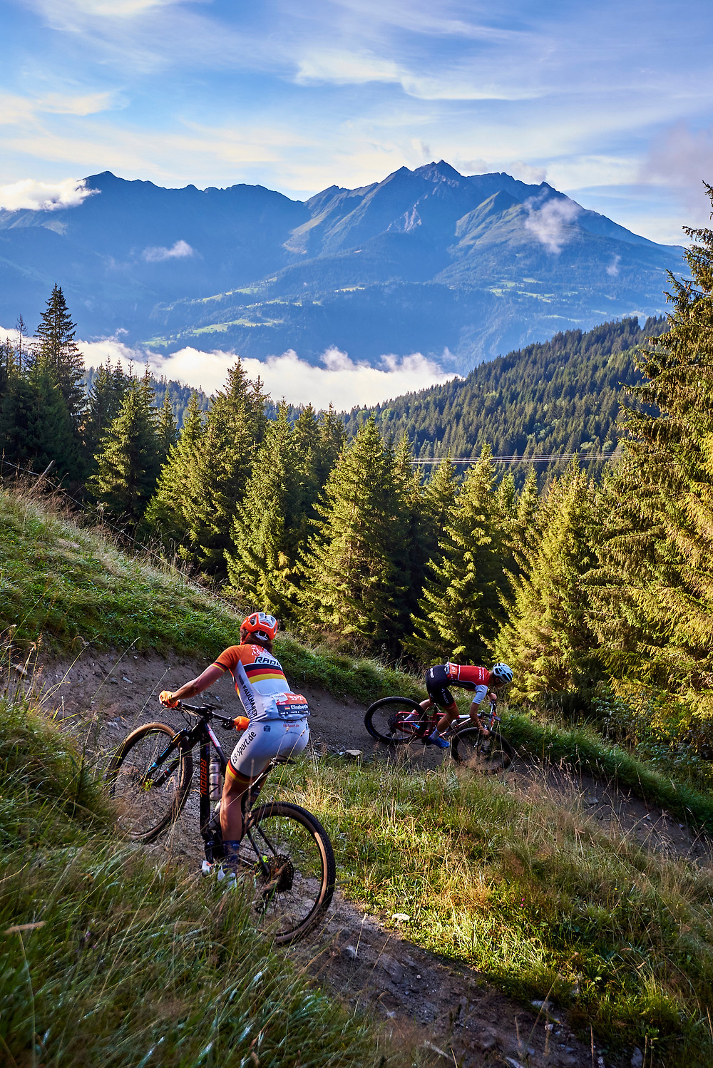 Elisabeth BRANDAU,Stefanie DOHRN during Stage 2 of the 2020 Swiss Epic from Laax to Arosa, Graubünden, Switzerland on 19 August 2020. Photo by Marius Holler.