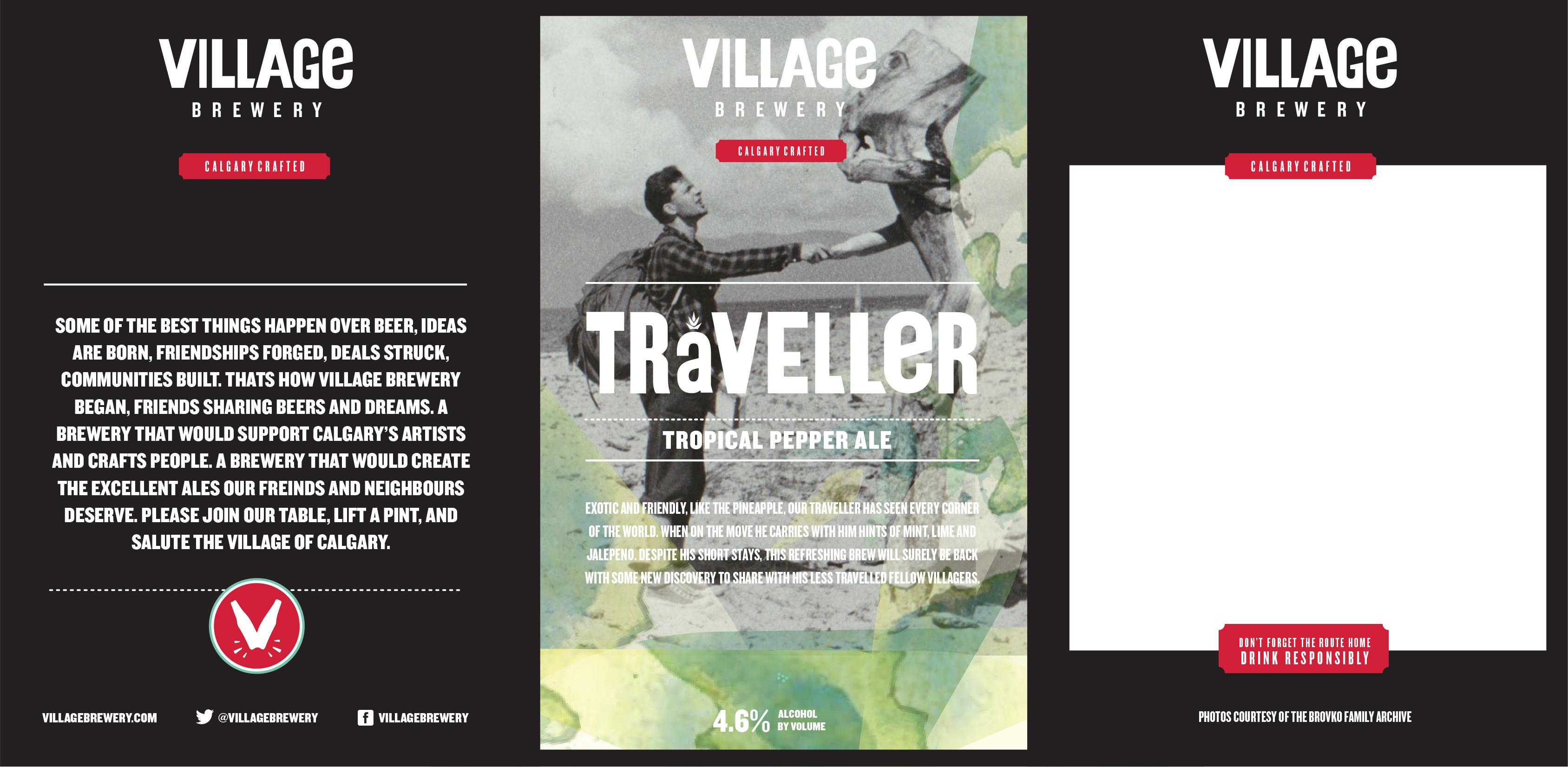 Village Traveller Tent Card