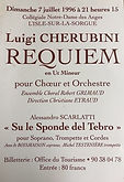 1996  D  juillet Cherubini Requiem et Sc