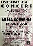 2001 juillet J H Fiocco Missa solemnis I