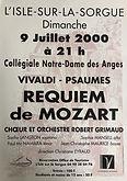 2000 juillet Requiem de Mozart et psaume