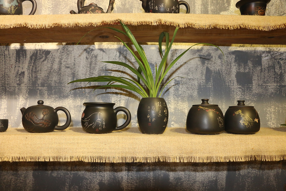 Purple Pottery teapots produced in Jianshui, Yunnan, China