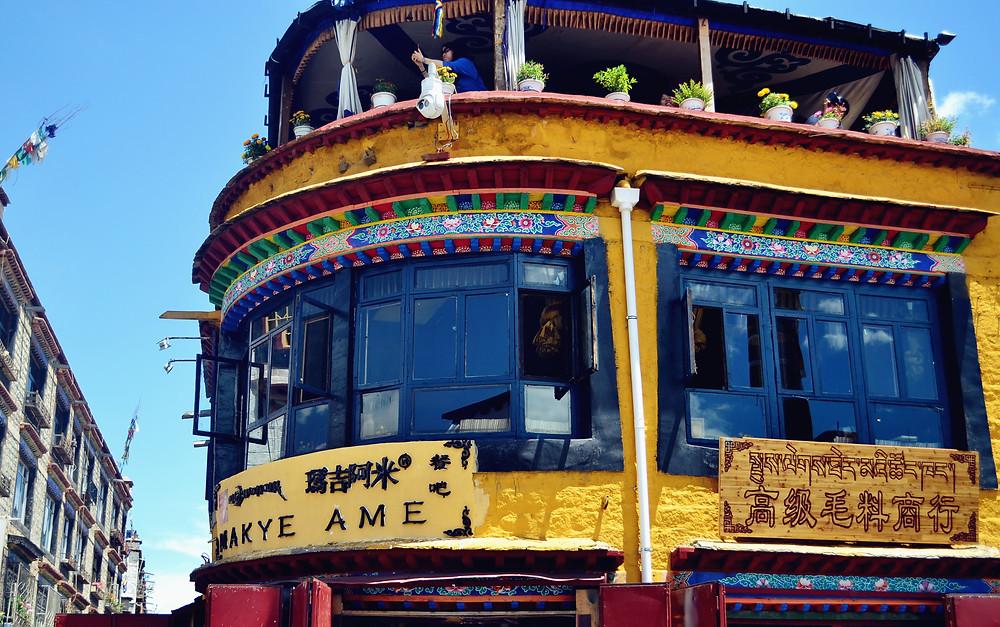Tea room in Lhasa