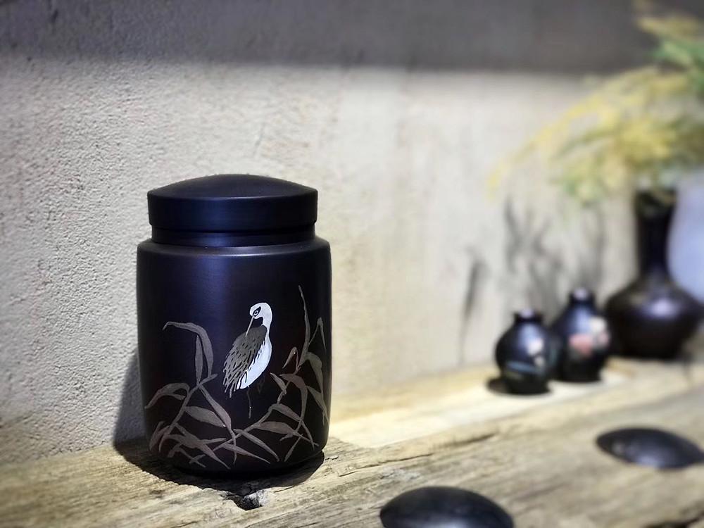 Purple Pottery Jar
