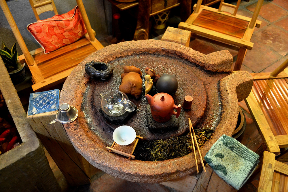 Tea-Set on a Stone Mill