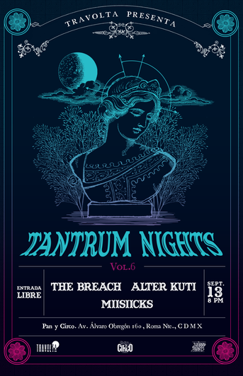 Gig poster para Tantrum Nights vol. 6