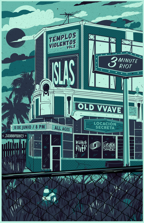 Gig poster para Templos Violentos vol. 2