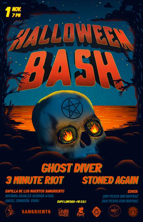 Gig poster para Halloween Bash