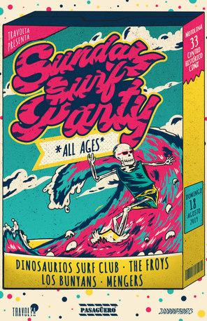 Gig poster para Sunday Surf Party - All Ages