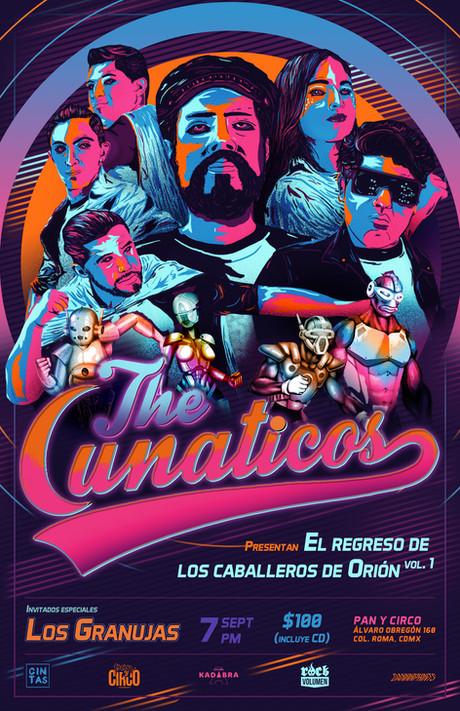 Gig poster para The Lunaticos