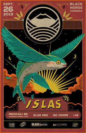 Gig poster for ISLAS
