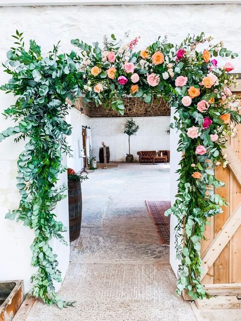 Flower door to barn