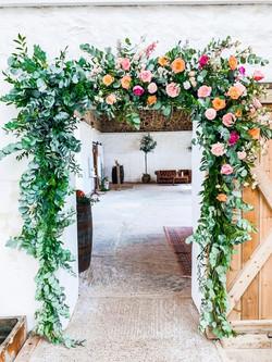 Flower door to barn