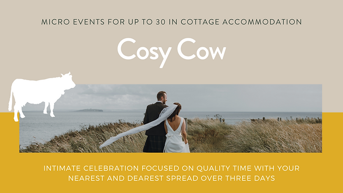 Cosy Cow - Kirkmay.  Intimate Cottage We