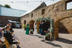 Dukes - Iona and Callum - courtyard cere
