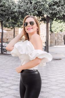 White Ava Top