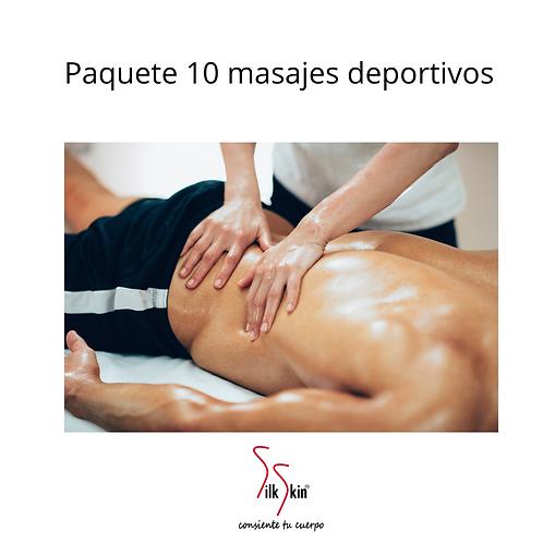 Paquete de 10 masajes deportivos