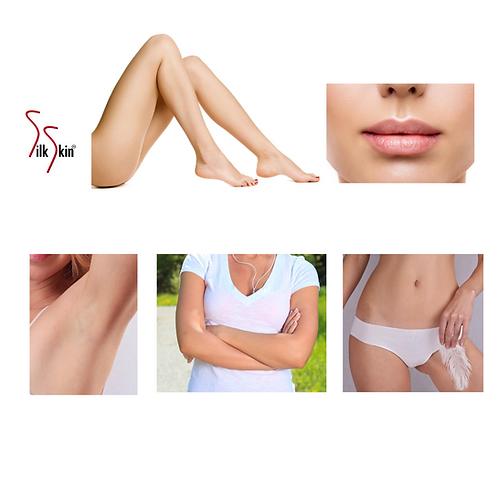 Depilación de piernas completas, bigote, axila,brazos y bikini