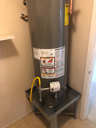 Water Heater Re-install_