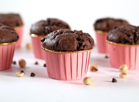 מאפינס שוקולד במילוי נוטלה