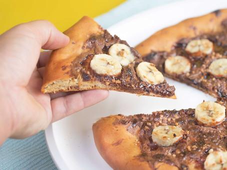 פיצה שוקו-בננה מהירה להכנה