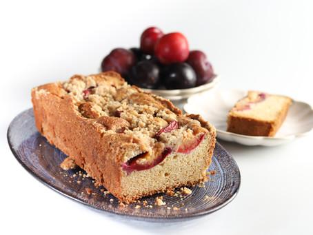 עוגת שזיפים של קיץ עם שטרויזל