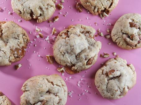 עוגיות קרמל, פקאן ומלח ים אטלנטי
