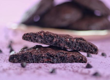 עוגיות שוקולד-שוקולד-שוקולד