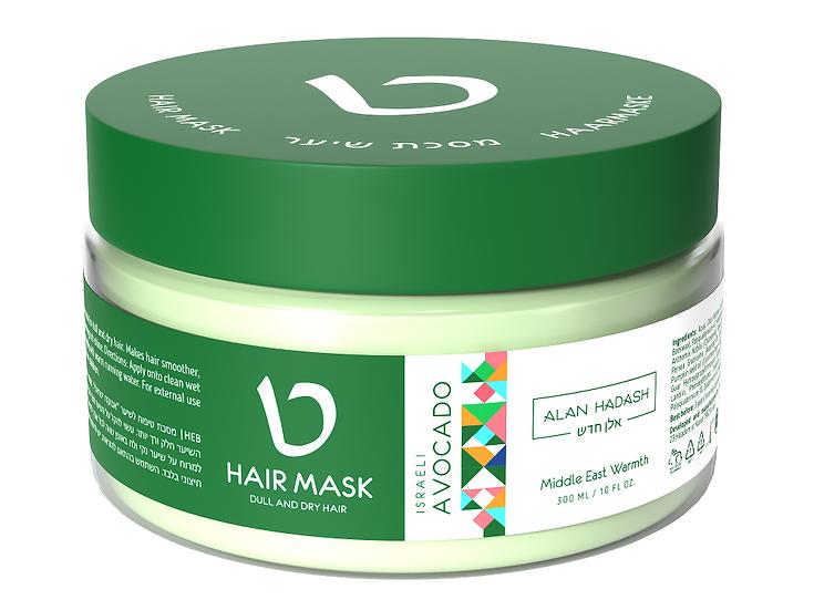 Маска для увлажнения и блеска волос Israeli Avocado 300мл