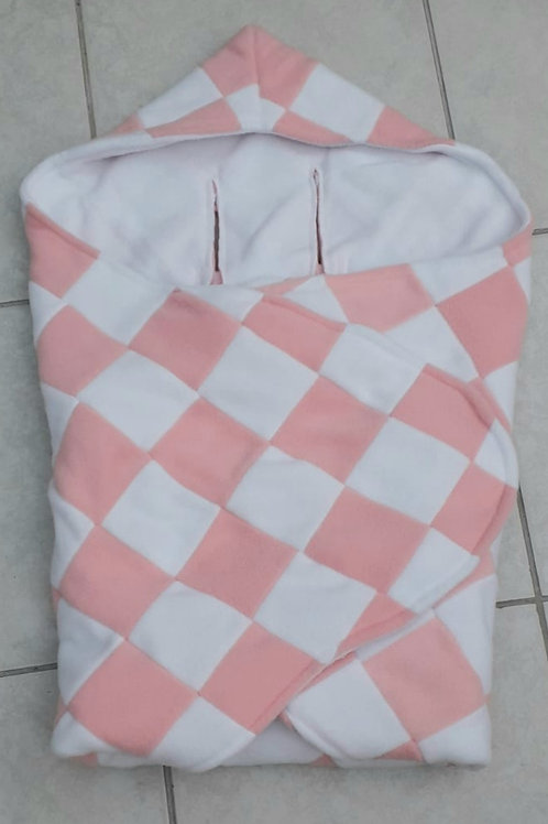 Pale pink and white patchwork  with white inner