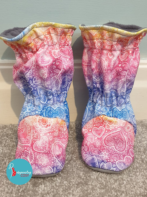 Rainbow lace booties size 4.5