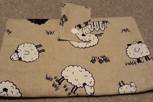 Linen sheep Nappy Wallet