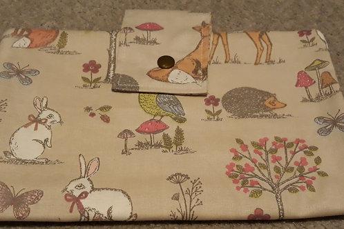 bunny and fox Nappy Wallet
