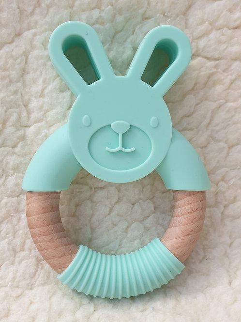 Mint bunny handheld teether