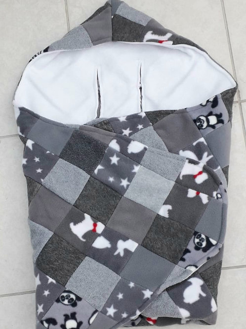 Grey mix patchwork with white inner