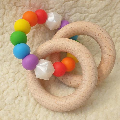 rainbow ring handheld teether
