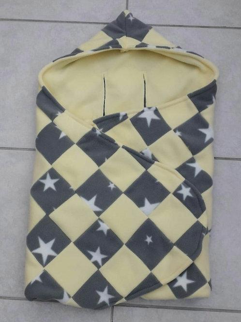 Grey star lemon patchwork