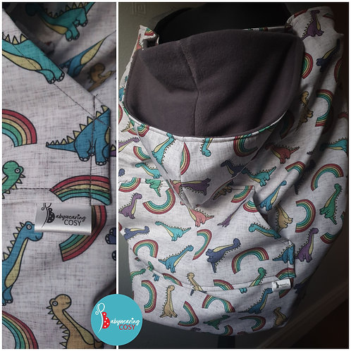 Only at Babywearing Cosy- Rainbow dinos