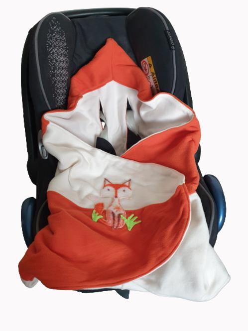 Fox applique- orange and white