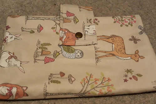 bunny and fox Nappy Wallet